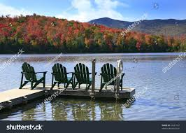 adirondack chairs lake.  Chairs Adirondack Chairs On A Swim Dock Peaceful Lake In The  State Park And Chairs Lake I