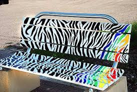 Here Is A Cute Bench Painted Bench With The Their Favorite Colors Hand Painted Benches