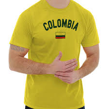 Details About Colombia Flag World Cup Soccer Colombian National Flag Pride T Shirt Tee