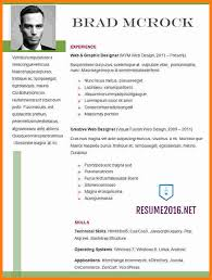 Updated Resume Formats Resume Template Ideas