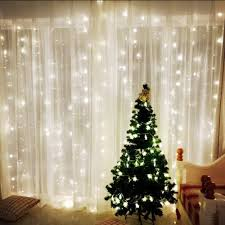 Window Decoration Omgai Window Curtain Icicle String Lights Of 300led For Christmas