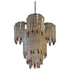 italian mid century murano chandelier by mazzega for
