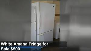Appliances Tampa White Amana Refrigerator For Sale Tampa 500 Youtube