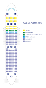 Airbus A340 Jet Seating Chart Airbus A340 500 Azerbaijan Airlines
