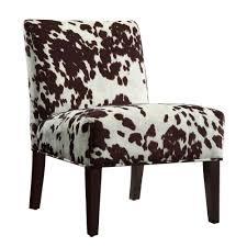 impressive idea cowhide accent chair homesullivan 40468f23s 3a the home depot