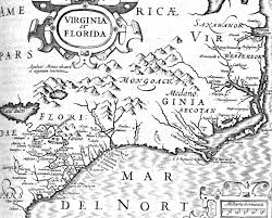 captain christopher newport Map Of Voyage From England To Jamestown map of virginia and florida from 1606 England to Jamestown VA Map