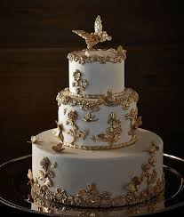 Gold Wedding White Gold Wedding Cakes 2168277 Weddbook