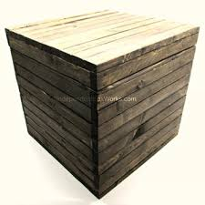 15 inch rustic wooden cube box with lid from independent large wooden box with hinged lid