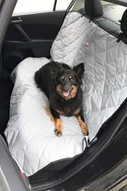 image of animal planet grey premium quilted oxford bench seat cover