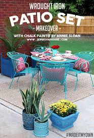 best 25 painting patio furniture ideas on painted with regard to refinishing metal patio furniture