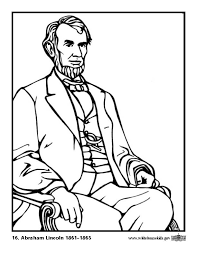 Small Picture Abraham Lincoln Coloring Pages Kids Coloring