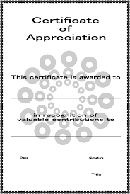 Certificate Of Appreciation Text Certificate Of Appreciation Template Certificate Of