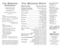sample wedding program wording wedding program layouts resumess zigy co