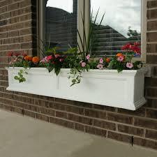 Flower Window Box Designs Details About Window Box Planter Box Garden Flower Herb Plant Pot White Outdoor Decor 5 Ft New