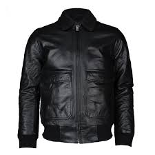 mens levis black flight leather jacket