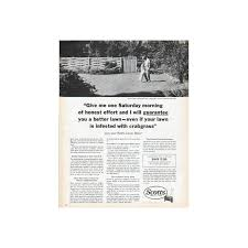 lawncare ad 1962 scotts lawn care vintage ad one saturday morning