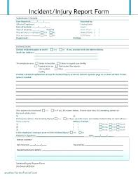 Workplace Incident Report Form Template To Cool Employee
