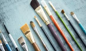 nope one brush doesn t fit all with a canvas you ll need to use acrylic or oil paint brushes that have long handles and stiff bristles