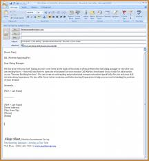 Cover Letter Email Format Notary Emailing Resume And Remarkable