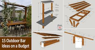 15 outdoor bar ideas on a budget plans