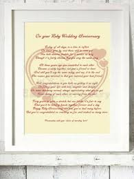 ruby 40th wedding anniversary personalised by waxalpoetry 12 99 wedding anniversary poems 50th anniversary