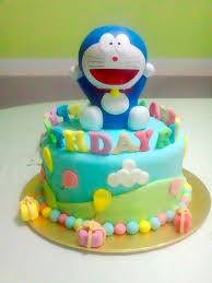 Doraemon Fondant Birthday Cake