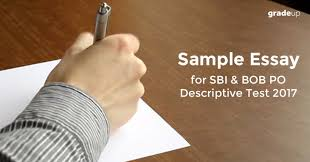 writing sample for descriptive paper in sbi po mains i essay writing sample for descriptive paper in sbi po mains 2017 i