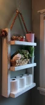 Rope Hanging Shelf, Wooden Ladder Shelf, Storage Shelf, Bathroom  Storage,Rustic Shelf