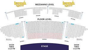 Branson Famous Theatre Seating Chart Branson Legends In Concert