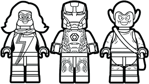 Marvel Colouring Pages Printable Coloring Page Superheroes With Lego