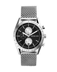 michael kors silver stainless steel mesh strap accelerator watch gallery