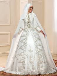 crystal beading balll gown muslim wedding dress tbdress com