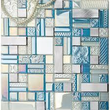 deluxe glass metal mosaic sheets brushed aluminum backsplash glass tile for kitchen and bathroom bravotti com