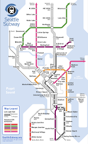 Seattle Transit Map Light Rail Look At This Dreamy Future Light Rail Map Of Seattle Slog