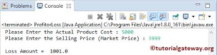 Java Program To Calculate Profit Or Loss