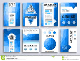 Set Of Brochure Flyers And Layout Templates For You Projects Stock