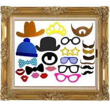 24pcs photo booth diy hat mustache frame props wedding birthday