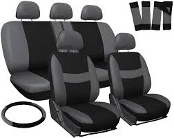 suv seat covers for toyota rav4 gray black w steering wheel belt pad head rests