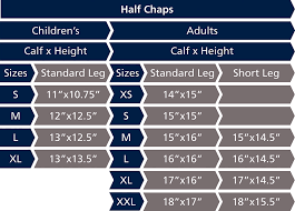 Chaps Boys Size Chart Suede Half Chaps Childrens Shires Equestrian