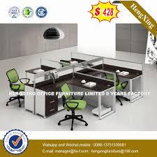 modern office modular open wooden desk 4 person computer workstation table hx 4pt058