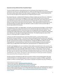 Executive Summary Phoenix Police Chief Jeri Williams Executive Summary On