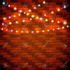 Christmas Lights On Brick Wall How To Hang A Without Nails