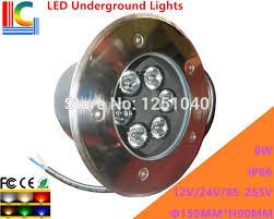 6w led underground lights 12v 110v 220v garden path lighting lamp landscape lamp ip66 waterproof outdoor