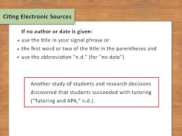 024 Apa Citation In Essay Example Use Internal Citations Step