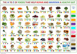 Chart A Health Chart A To Z Of Foods For A Healthy Gut