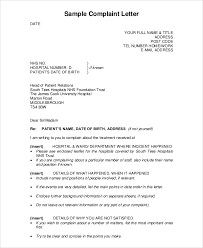 Letters Of Complaints Samples Sample Complaint Letter 9 Examples In Pdf Word