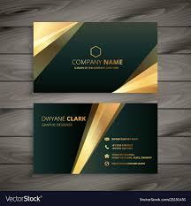 business card tamplate elegant premium golden business card template