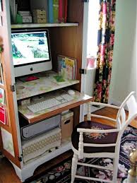 mini home office. Turn Cabinet Into A Mini Home Office