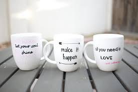 Travel Mug Design Ideas Diy Quote Stenciled Sharpie Mugs Popsugar Smart Living