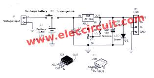 power bank mobile charger circuit using lm1086 eleccircuit portable power pack circuit using lm1086